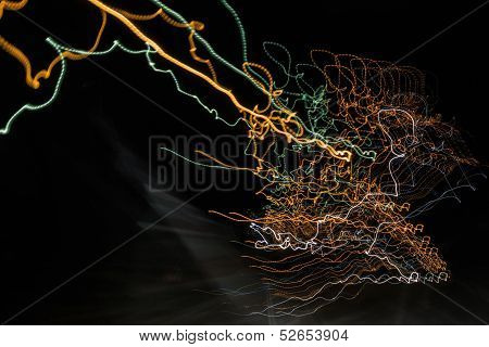 Abstract Curvy Web Like Light Trails