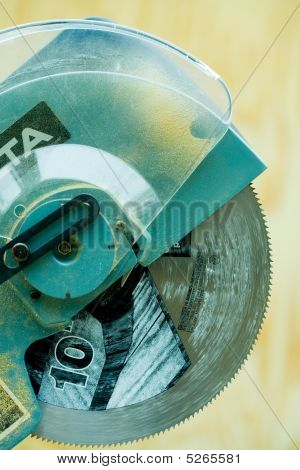 Electric Miter Saw Close-up