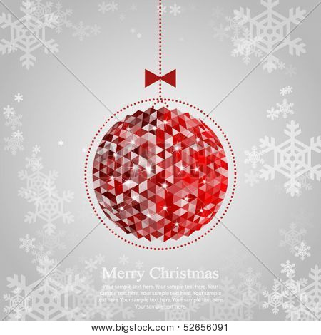 Christmas ornament. Vector illustration for your design.
