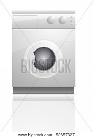 detailed illustration of a washing maschine, eps10 vector