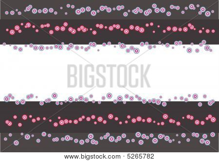Grey Template With Circles - Vector