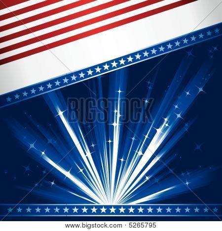 Bandera Usa estilizado