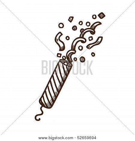 Slapstick with confetti