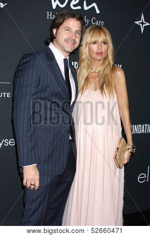 LOS ANGELES - OCT 19:  Rodger Berman, Rachel Zoe at the 2013 Pink Party at Hanger 8 on October 19, 2013 in Santa Monica, CA