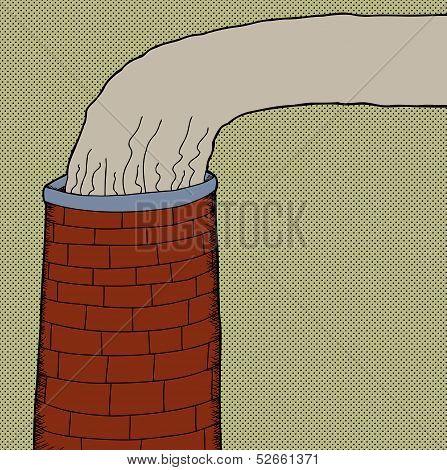 Brick Chimney Smoke