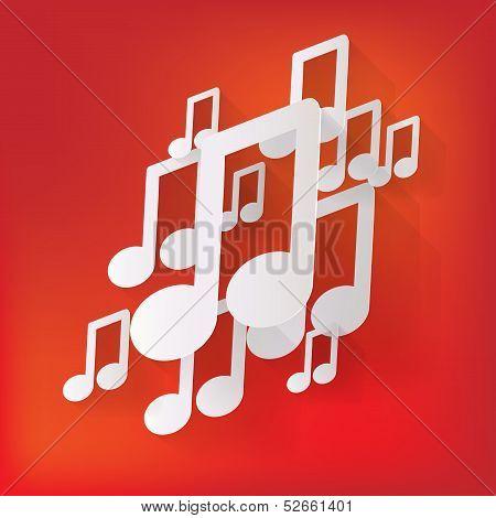 Music web icon,flat design