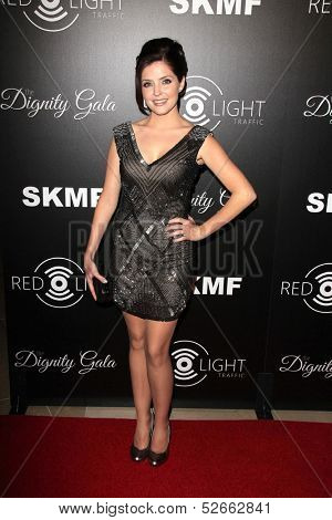 LOS ANGELES - OCT 18:  Jen Lilley at the Dignity Gala and Launch of Redlight Traffic App at Beverly Hilton Hotel on October 18, 2013 in Beverly Hills, CA