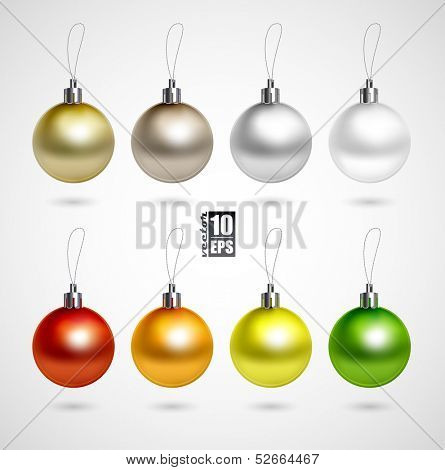Set of eight evening balls.colorful symbol