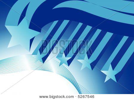 Flying Blue Stars
