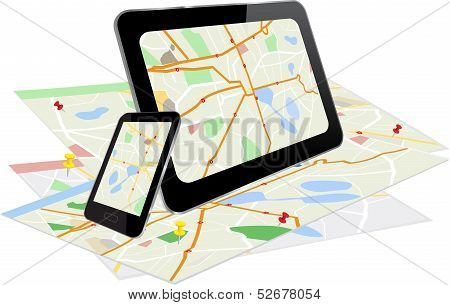 Tablet  And Smart Phone With Navigation System
