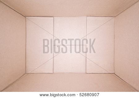 Empty Brown Cardboard Box