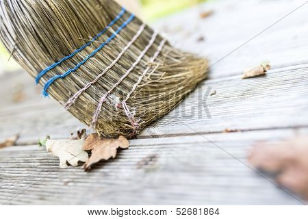 Sweeping Wooden Patio