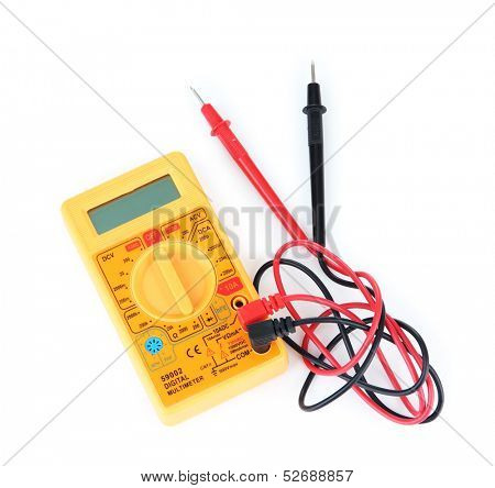 Multimeter isolated on white