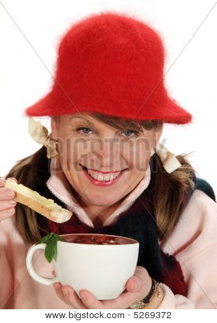 Woman With Soup