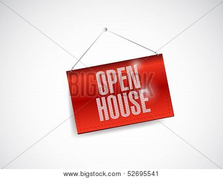 Open House Hanging Banner Illustration Design