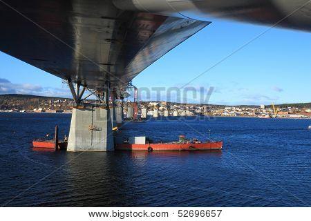 Bridge Crossing Blue Water