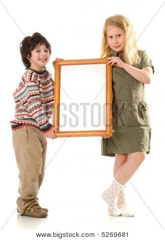 The Boy And Girl With A Frame