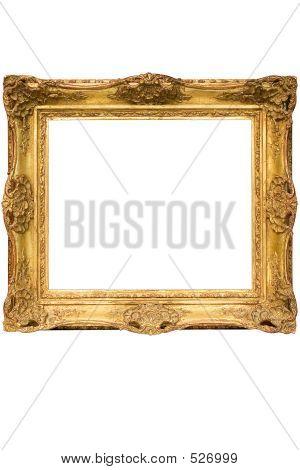Gold vergoldet Holz Bilderrahmen W / Path (kubisch)