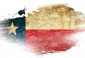 picture of texans  - Texan flag with some grunge effects and lines - JPG