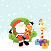 picture of lap  - Kid sitting on santa - JPG