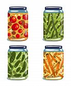 picture of pickled vegetables  - Vector EPS8 layered food illustration - JPG