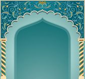 foto of front-entry  - Vector illustration if islamic arch design in EPS10 format - JPG