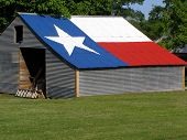 image of texas flag  - shed with texas flag painted on roof - JPG