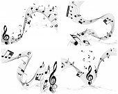 image of g clef  - Musical note staff set - JPG