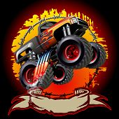 image of monsters  - Cartoon Monster Truck - JPG