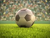 image of olympic-games  - Soccer ball on the field - JPG