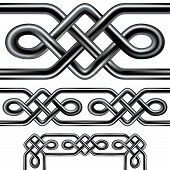 stock photo of claddagh  - Seamless Celtic rope design element - JPG