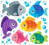 stock photo of saltwater fish  - Fish theme collection 1  - JPG