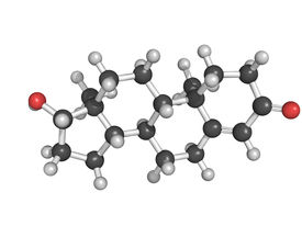 picture of testicle  - Chemical structure of testosterone male sex hormone - JPG