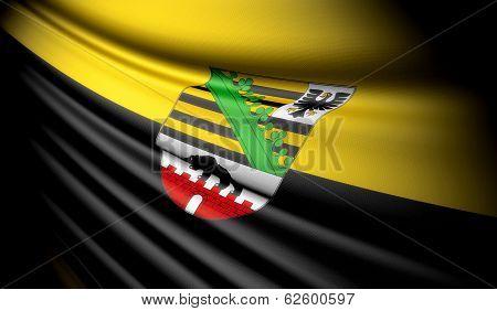 Flag Of Saxony-anhalt (ger)