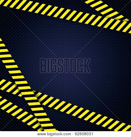 Danger yellow tape grunge background