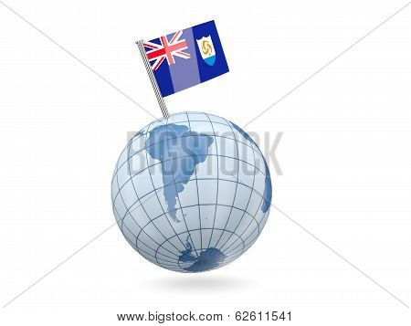 Globe With Flag Of Anguilla