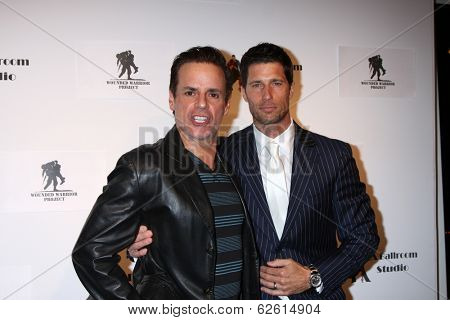 LOS ANGELES - MAR 31:  Christian LeBlanc, Rib Hillis at the LA Ballroom Studio Grand Opening at LA Dance Studio on March 31, 2014 in Sherman Oaks, CA