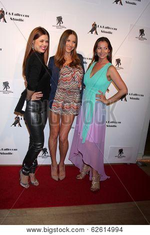 LOS ANGELES - MAR 31:  Anna Trebunskaya, Edyta Sliwinska, Elena Grinenko at the LA Ballroom Studio Grand Opening at LA Dance Studio on March 31, 2014 in Sherman Oaks, CA