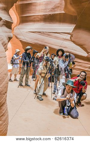 Photographers Shooting Of The Upper Antelope Canyon