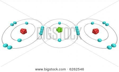 3D Carbon Atom http://www.bigstockphoto.com/image-6262546/stock-photo-carbon-dioxide-co2-atomic-diagram