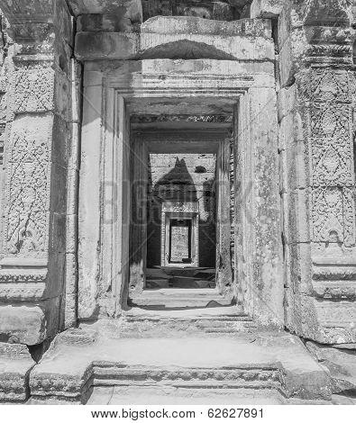 Doorways And Corridor In Temple Ruins