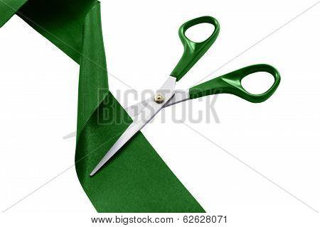 Cut Green Ribbon