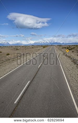 Endless Empty Country Highway, Ruta 40.