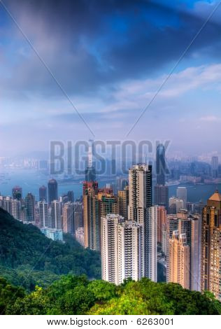 Cityscape Of Modern Skyscraper In Hong Kong