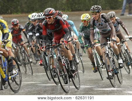 BARCELONA - MARCH, 30: Tejay van Garderen of BMC Racing Team rides during the Tour of Catalonia cycling race through the streets of Monjuich mountain in Barcelona on March 30, 2014