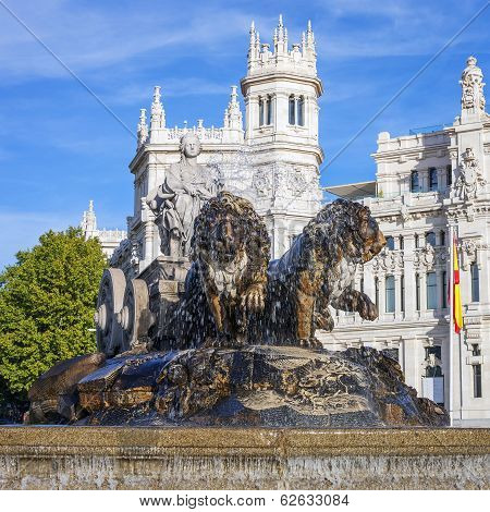 Famous Cibeles Palace And Fountain