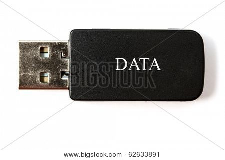 USB memory stick isolated on white background