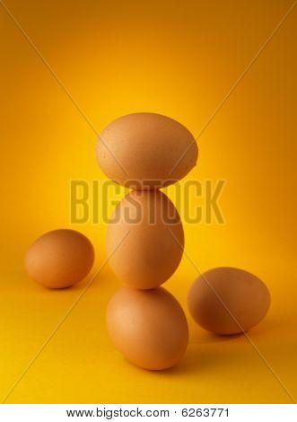 equilibrio de huevos