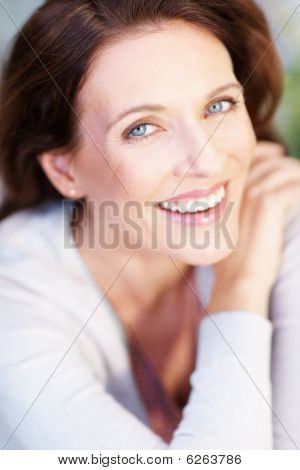 Portrait Of A Charming Mature Woman Smiling | Stock photo. download preview