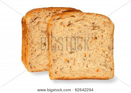 Unleavened bread isolated on a white